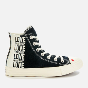 Converse Women's Chuck Taylor All Star Hi-Top Trainers - Black/Egret/University Red