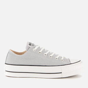 Converse Women's Chuck Taylor All Star Lift Seasonal Ox Trainers - Wolf Grey/White/Black