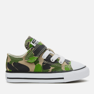 Converse Toddlers' Chuck Taylor All Star 1V Camo Ox Trainers - Black/Khaki/White