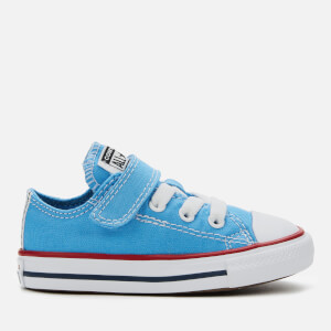 Converse Toddlers' Chuck Taylor All Star 1V Twisted Ox Trainers - Coast/Garnet/White
