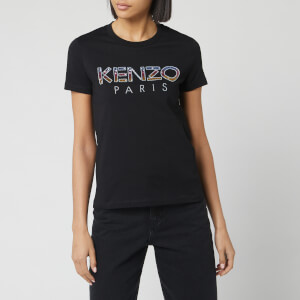 KENZO Women's Straight T-Shirt Sequins - White