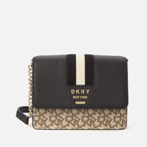 DKNY Women's Liza Small Chain Shoulder Bag - Chino/Black