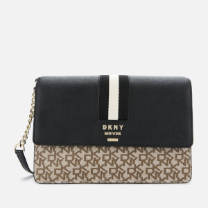 DKNY Women's Liza Medium Shoulder Bag - Chino/Black