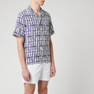 KENZO Men's Printed Mermaid Short Sleeve Shirt - Plum Blue