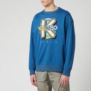 KENZO Men's Wetsuit Oversize Sweatshirt - Duck Blue