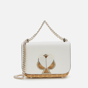 Kate Spade New York Women's Nicola Wicker Twistlock Shoulder Bag - Optic White
