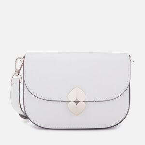 Kate Spade New York Women's Lula Small Saddle Bag - Optic White