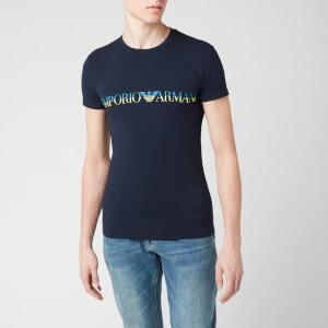 Emporio Armani Men's Megalogo T-Shirt - Marine
