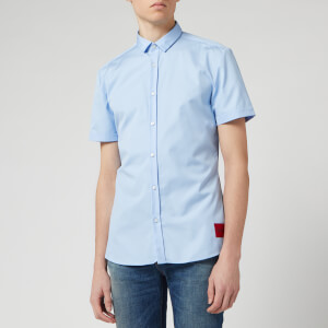 HUGO Men's Empson-W Short Sleeve Shirt - Light/Pastel Blue