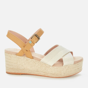 TOMS Women's Shimmer Willow Wedges - Natural