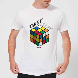 Take It Easy Rubik's Cube Men's T-Shirt - White