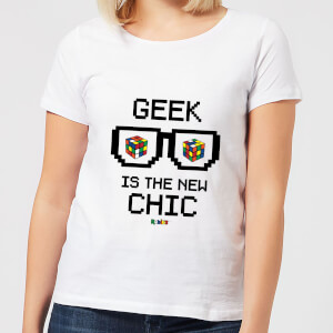 Geek Cube Is The New Chic Women's T-Shirt - White