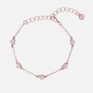 Ted Baker Women's Neleaha: Nano Heart Charm Bracelet - Rose Gold/Crystal