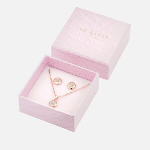 Ted Baker Women's Emillia: Mini Button Set - Rose Gold/Silver Glitter