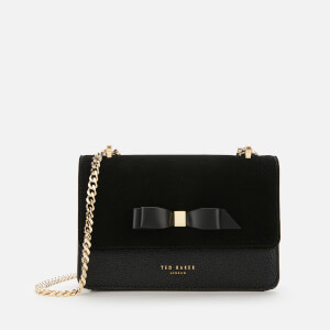 Ted Baker Women's Omaria Bow Detail Suede Trim Mini Cross Body Bag - Black