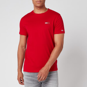 Tommy Jeans Men's Chest Logo T-Shirt - Racing Red