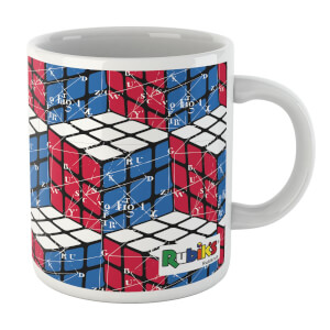 Rubik Scientific Equations Red Blue White Cube Mug Mug