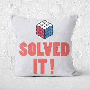 Solved It! Messed Up! Square Cushion