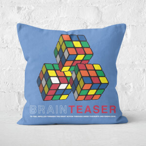 Brain Teaser Trio Rubik's Cube Repeat Pattern Square Cushion