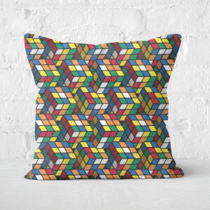 Repeat Rubik's Cube Pattern Cushion Square Cushion