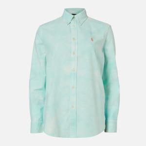 Polo Ralph Lauren Women's Long Sleeve Relaxed Long Sleeve Shirt - Deep Seafoam