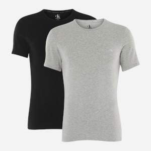 Calvin Klein Men's 2 Pack Crewneck T-Shirts - Black/Grey Heather