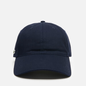 Lacoste Men's Contrast Strap Cotton Cap - Navy Blue