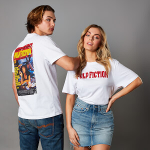 Camiseta Pulp Fiction - Unisex - Blanco