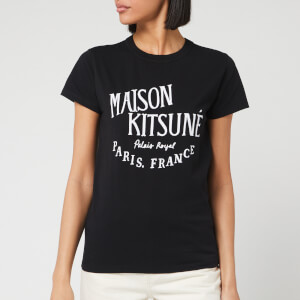 Maison Kitsuné Women's T-Shirt Palais Royal - Black