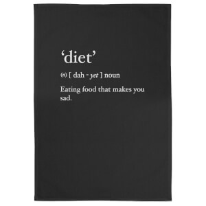 Diet' Eating Food That Makes You Sad Cotton Black Tea Towel