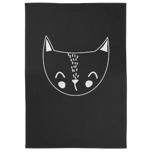 Cat Cotton Black Tea Towel