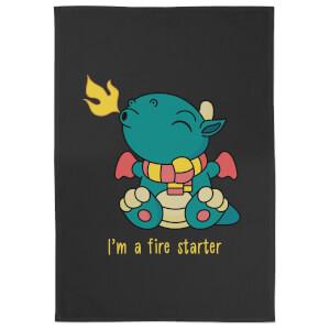I'm A Fire Starter Cotton Black Tea Towel