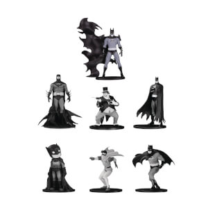 DC Collectibles Batman Black & White Mini PVC Figure 7 Pack Set 4