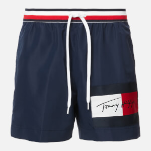Tommy Hilfiger Men's Logo Swim Shorts - Pitch Blue