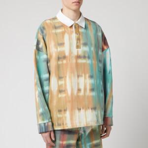 Wooyoungmi Men's Tie Dye Rugby Shirt - Camel