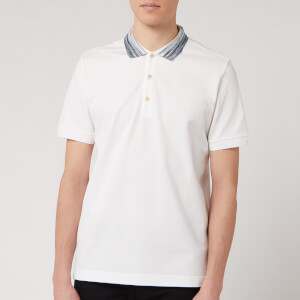 Missoni Men's Piquet Tinta Unita Collo Polo Shirt - White