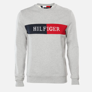 Tommy Hilfiger Men's Intarsia Sweatshirt - Medium Grey