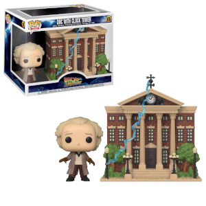 Back to the Future Doc with Clock Tower Funko Pop! Town
