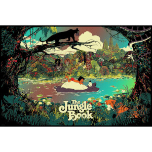 Disney's The Jungle Book by Raid71 Limited Edition Screenprint Print - Variant