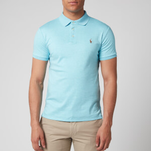 Polo Ralph Lauren Men's Pima Cotton Slim Fit Polo Shirt - Beach Aqua Heather