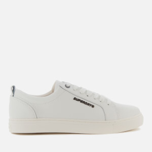 Superdry Men's Truman Leather Low Top Trainers - White