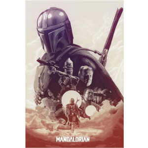 "Star Wars: The Mandalorian ""They're Waiting For You"" Lithograph Print by Devin Schoeffler"