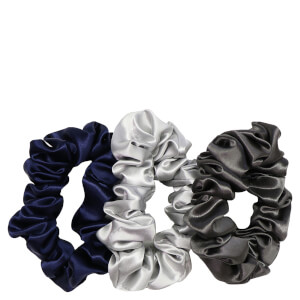 Slip Pure Silk Scrunchies - Large - Midnight