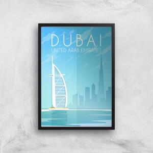 Visit... Dubai Giclée Art Print