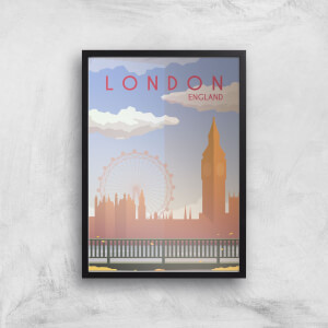 Visit... London Giclée Art Print