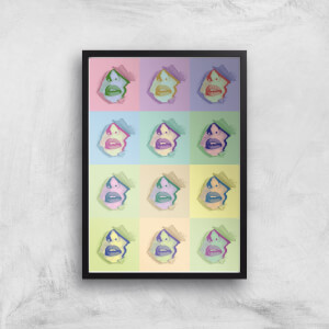 Multi Colour Sexy Lips Break Through Giclée Art Print