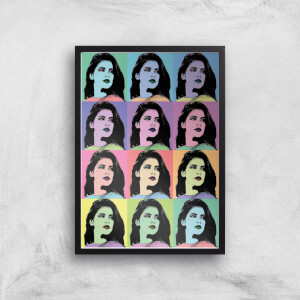 Multi Colour Pop Girl Giclée Art Print