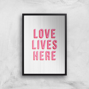 Love Lives Here Giclée Art Print