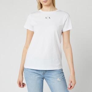 Armani Exchange Women's Small Logo T-Shirt - White