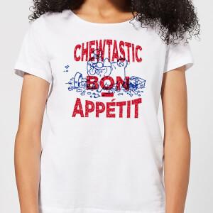 Simons Cat Chewtastic Bon Appetit Women's T-Shirt - White